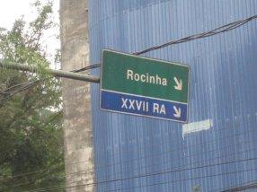 Rocinha sign