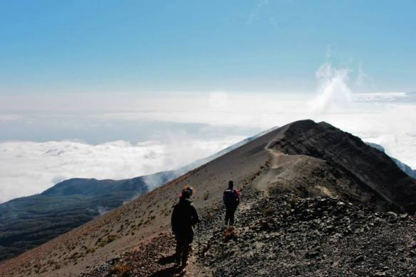 Approaching summit of Mt Meru